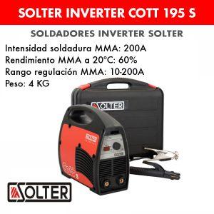 Soldador inverter Solter Cott 195 S + maletín