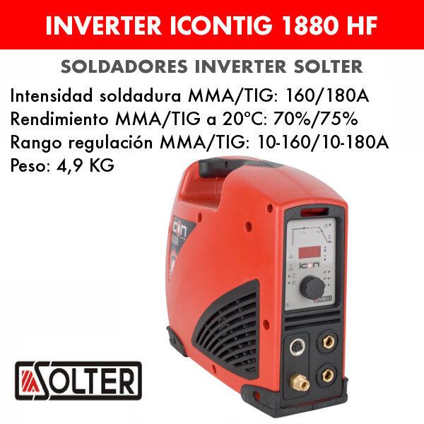 Soldador inverter Solter Icontig 1880 HF