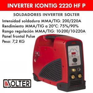 Soldador inverter Solter Icontig 2220 HF Pulse