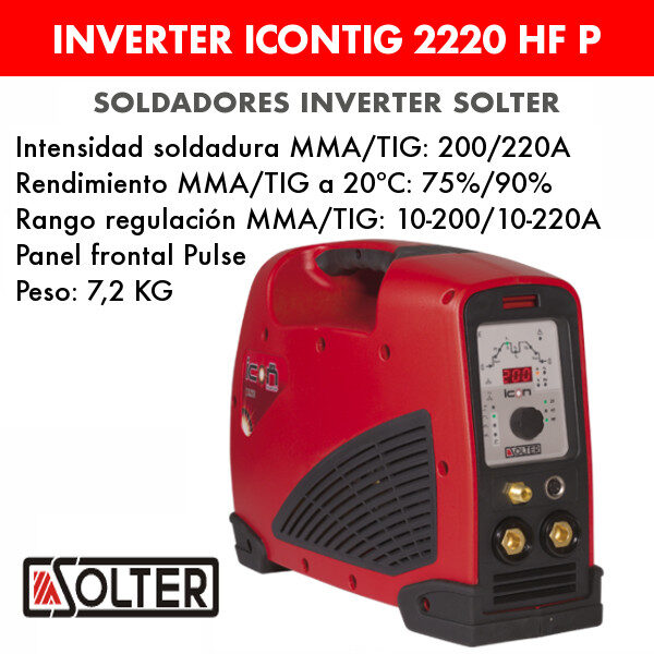Soldador inverter Solter Icontig 2220 HF Pulse