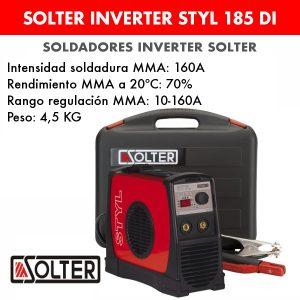 Soldador inverter Solter Style 185 DI + maletín