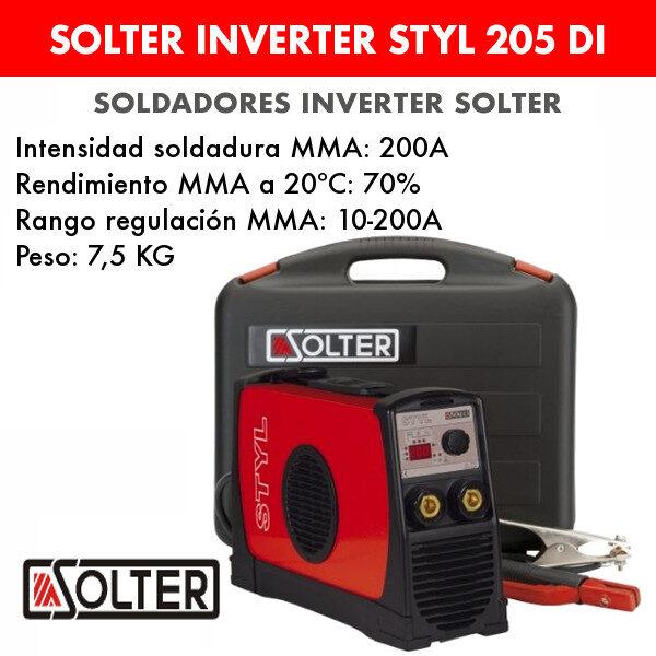 Soldador inverter Solter Styl 205 DI