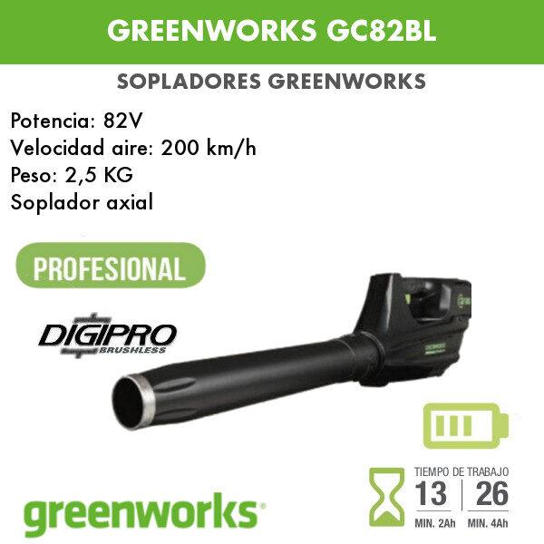 soplador Greenworks GC82BL