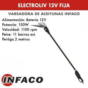 Vareadora de aceitunas Electroliv 12V fija