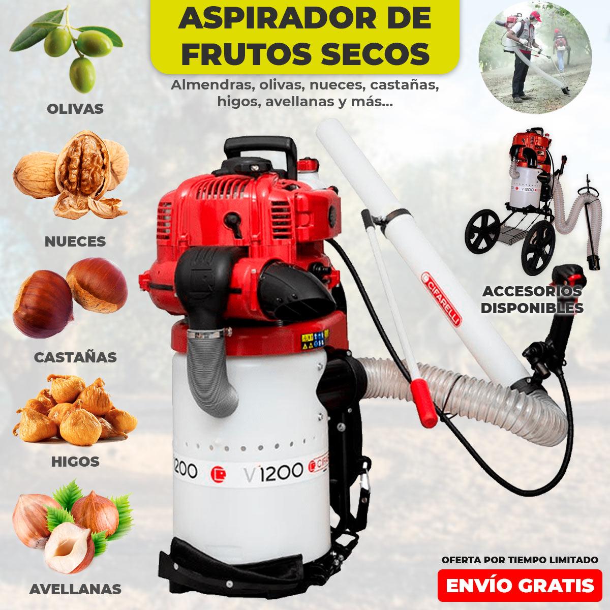 Agrícola Cifarelli V1200 dry fruit vacuum cleaner