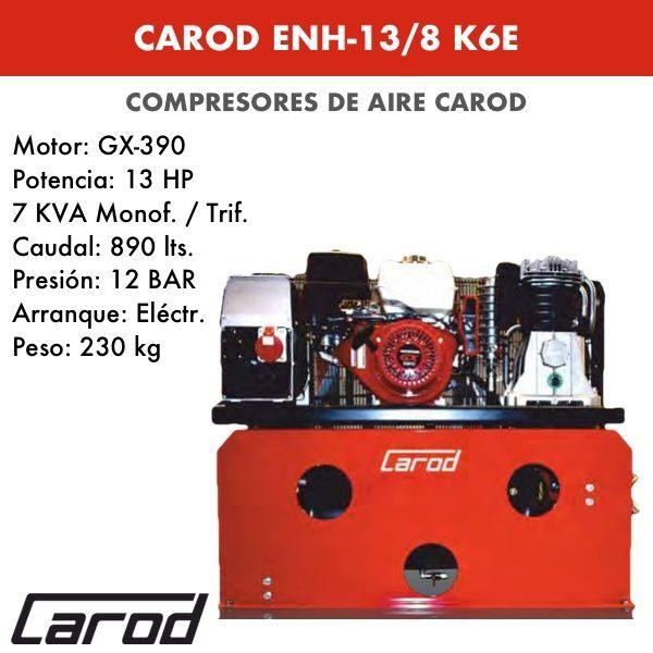 Compresor de aire Carod ENH-13-8 K6E Motor Honda