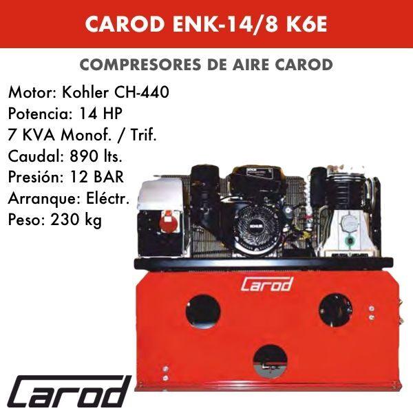 Compresor de aire Carod ENK-14-8 K6E Motor Kohler