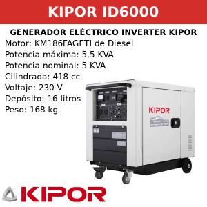 Generador Eléctrico Inverter ID6000 de Diesel