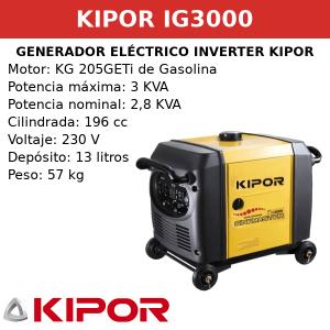 Generador Eléctrico Inverter IG3000 de Gasolina