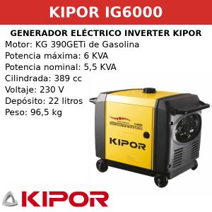 Generador Eléctrico Inverter IG6000 de Gasolina