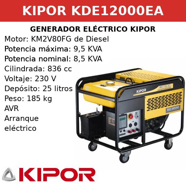 Generador Eléctrico KDE12000EA de Diesel