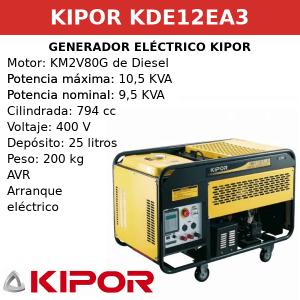 Generador Eléctrico KDE12EA3 de Diesel