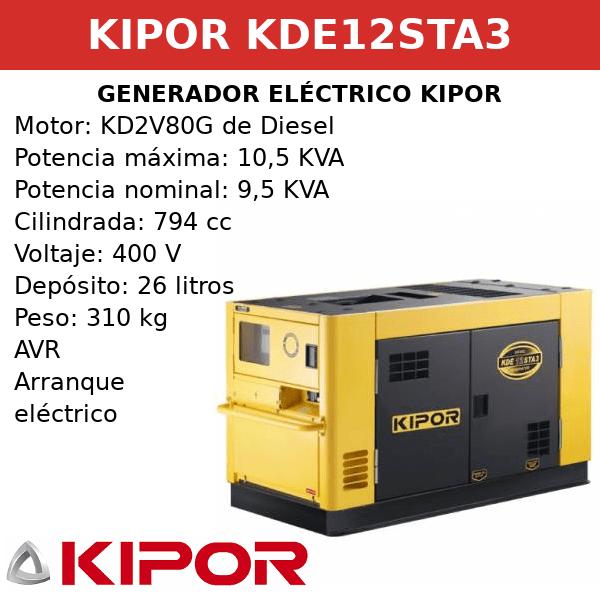 Generador Eléctrico KDE12STA3 de Diesel