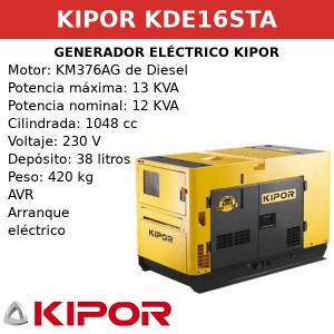 Generador Eléctrico KDE16STA de Diesel