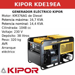 Generador Eléctrico KDE19EA de Diesel