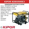 Generador Eléctrico KDE6500E3 de Diesel