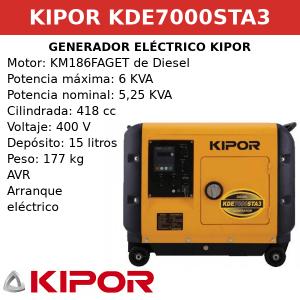 Generador Eléctrico KDE7000STA3 de Diesel