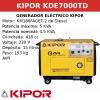 Generador Eléctrico KDE7000TD de Diésel