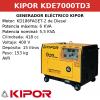 Generador Eléctrico KDE7000TD3 de Diesel