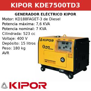 Generador Eléctrico KDE7500TD3 de Diesel