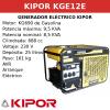 Generador Eléctrico KGE12E de gasolina