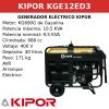 Generador Eléctrico KGE12ED3 de gasolina trifasico