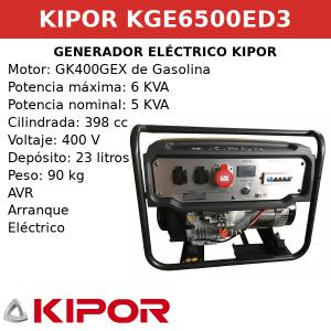 Generador Eléctrico KGE6500ED3 de gasolina trifasico