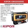 Generador eléctrico Kipor KNGE6000E gas, GPL o gasolina