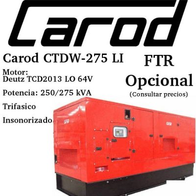 Generador-electrico-Carod-CTDW-275-LI