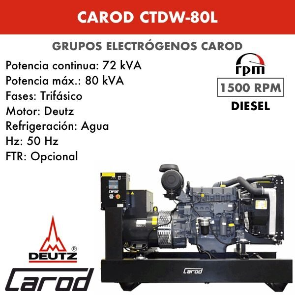 Grupo Electrógeno Carod CTDW-80 L