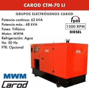Grupo Electrógeno Carod CTM-70 LI Trifásico Insonorizado 70kVA