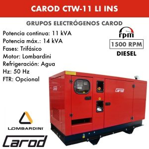 Grupo Electrógeno Carod CTW11LI Trifasico Insonorizado 11kVA