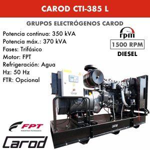 Grupo electrógeno Carod CTI-385 L Trifasico 385kVA