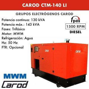 Grupo electrógeno Carod CTM-140 LI Trifasico Insonorizado 140kVA