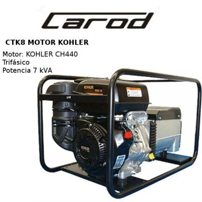 generador electrico carod ctk8 kohler