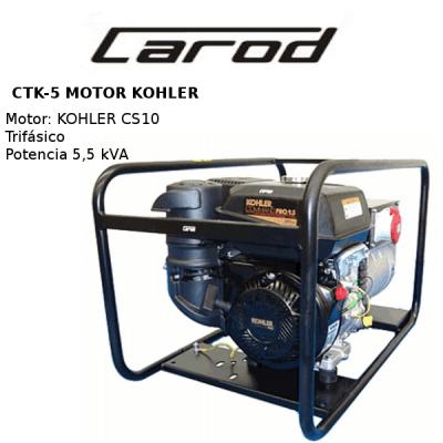 generadores electricos carod ctk5 motor kohler