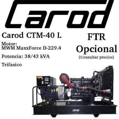 Comprar generador electrico Carod CTM-40 L
