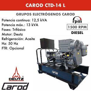Grupo Electrógeno Carod CTD-14 L Trifasico 14kVA