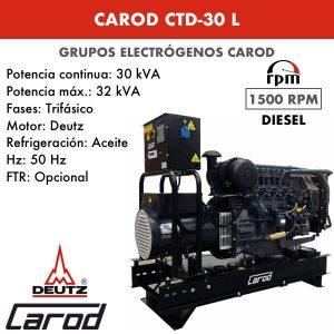Grupo Electrógeno Carod CTD-30 L Trifásico