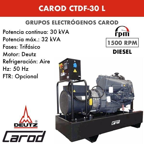 Grupo Electrógeno Carod CTDF-30 L Trifasico