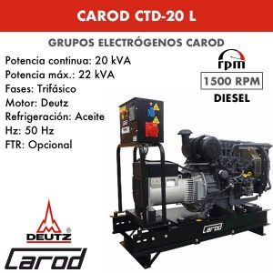 Grupo Electrógeno Carod CTDM-20 L Trifasico