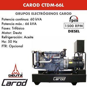 Grupo Electrógeno Carod CTDM-66 L Trifasico