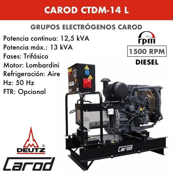 Grupo Electrogeno Carod CTDM-14 L Trifasico