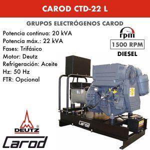 Grupo electrógeno Carod CTD-22 L Trifasico
