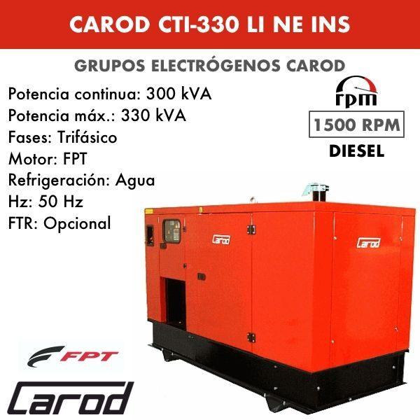 Grupo electrógeno Carod CTI-330 LI NE Trifasico Insonorizado 330kVA