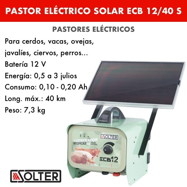 PASTOR ELÉCTRICO SOLAR SOLTER ECB12:40 S