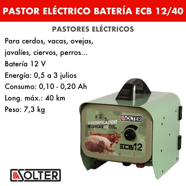 Pastor bateria Solter ECB12:40 B