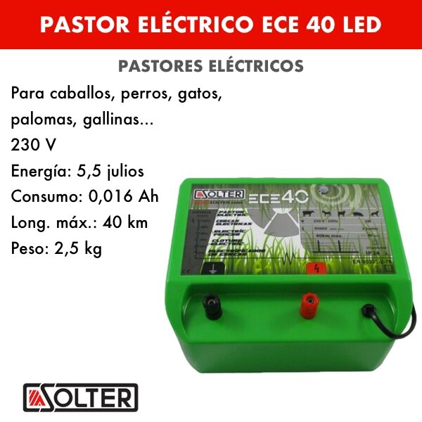 Pastor electrico Solter ECE 40 LED