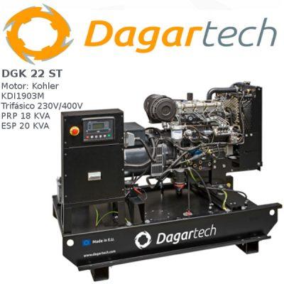 Generador electrico 1500rpm Dagartech DGK 22 ST