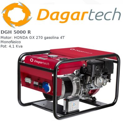 Generador electrico Dagartech DGH 5000 R